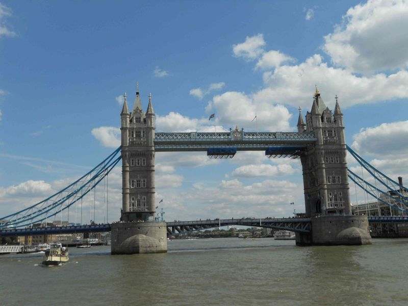 Tower bridge from water